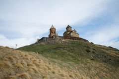 Церковь, Georgia, Mzcheta-Mtianeti, Qasbegi, Stepanzminda, k стоковые изображения rf