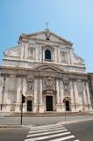 Церковь Gesù в Риме, Италии. стоковые изображения