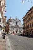 Церковь Gesù на 6,2013 -го августа в Риме, Италии. стоковые изображения rf