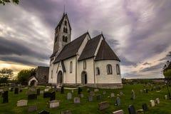 Церковь Gothem в Готланде, Швеции стоковое изображение
