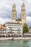 Церковь Grossmunster, Цюриха Стоковые Изображения
