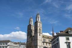 Церковь Grossmunster Цюриха Стоковое Изображение