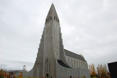Церковь Hallgrimskirkja, Исландия Стоковая Фотография RF