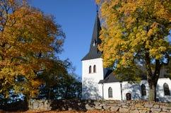 Церковь Hjalstad в Швеции Стоковое Изображение RF