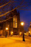 Церковь Hooglandse зимы Стоковые Фото
