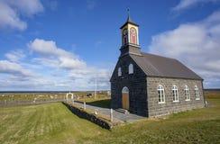 Церковь Hvalsneskirkja стоковое изображение rf