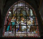 Церковь Jacques Святого, Compiegne, Уаза, Франция стоковые фотографии rf