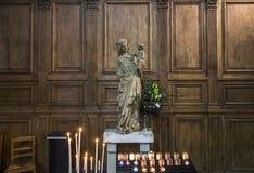 Церковь Jacques Святого, Compiegne, Уаза, Франция стоковое фото rf