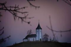 Церковь Jamnik Святого, Словения Стоковое Фото