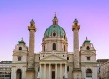 Церковь Karlskirche в вене Австрии Стоковое Изображение RF