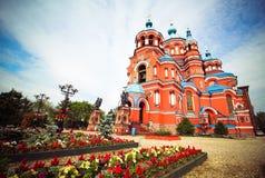 Церковь Kazansky в Иркутске, Иркутске, Сибире, России Стоковое фото RF