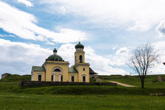 Церковь Khotyn на холме Стоковая Фотография