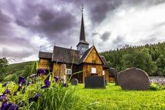 Церковь Kvikne, Норвегия стоковое фото