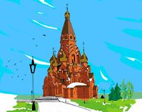 Церковь Lessosibirsk Стоковые Изображения RF