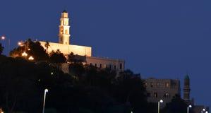 Церковь litten вверх на волшебном часе Стоковые Изображения