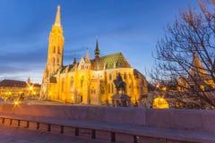 Церковь Mathias, бастион рыболова, Будапешт стоковые фотографии rf