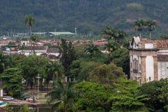 Церковь Matriz города Paraty историческая Стоковое Фото