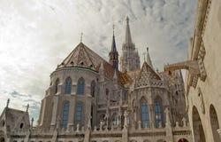 Церковь Matthias в Будапешт (Венгрия) Стоковое Изображение