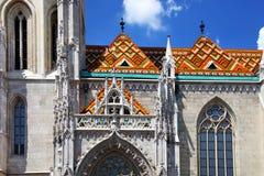 Церковь Matthias - церковь нашей дамы, деталь Будапешта архитектурноакустическая стоковое изображение