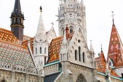 Церковь Matthias - церковь нашей дамы, деталь Будапешта архитектурноакустическая стоковая фотография rf