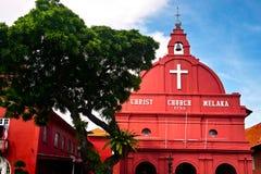Церковь Melaka Христоса Стоковая Фотография