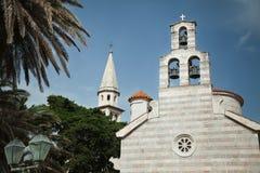 церковь montenegro budva старый Стоковая Фотография