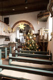 Церковь Nebel на Amrum Стоковые Изображения RF