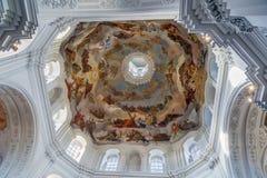 Церковь Neumunster, Wurzburg, Германия Стоковое Изображение RF