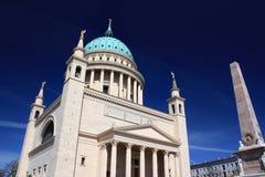 Церковь Nikolai в Потсдаме, Германии - 17 04 2016 Стоковая Фотография RF