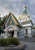 Церковь Nikolas Святого русская в Софии Болгарии стоковое изображение rf
