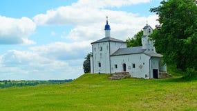 Церковь Nikolskaya на Gorodishe Truvor около Izborsk Стоковые Фото