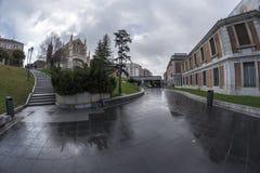Церковь nimo ³ Сан Jerà увиденного от музея Prado Мадрид, Марк стоковая фотография rf
