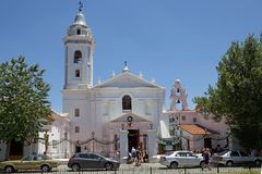 Церковь Nuestra Senora del Pilar в Буэносе-Айрес, Аргентине стоковое фото rf