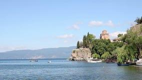 Церковь Ohrid Jovan Kaneo сток-видео