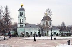 Церковь Olc в парке Tsaritsyno в Москве Стоковая Фотография