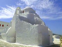 Церковь Panagia Paraportiani в городке Mykonos, Греции стоковое изображение rf