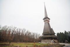 Церковь Peri деревянная в Sapanta, Румынии Стоковая Фотография