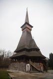Церковь Peri деревянная в Sapanta, Румынии Стоковые Фото