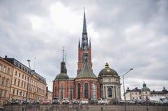 Церковь Riddarholm в Стокгольме, Швеции Стоковое фото RF