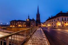 Церковь Riddarholmskyrkan в городке Стокгольма старом (Gamla Stan) Стоковые Фото