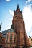 Церковь Riddarholmskyrkan в городке Стокгольма старом (Gamla Stan) Стоковое фото RF