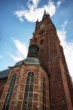 Церковь Riddarholmskyrkan в городке Стокгольма старом (Gamla Stan) Стоковые Изображения