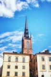 Церковь Riddarholmskyrkan в городке Стокгольма старом (Gamla Stan) Стоковые Изображения RF