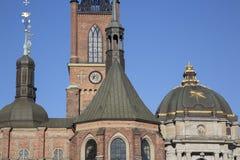 Церковь Riddarholmskyrkan; Остров Riddarholmen; Стокгольм Стоковые Изображения