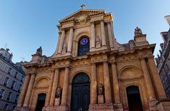 Церковь roch Святого в Париже стоковые изображения rf