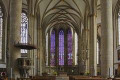 Церковь 1375 ` s St Ламбера Мунстер, Германии стоковые изображения rf