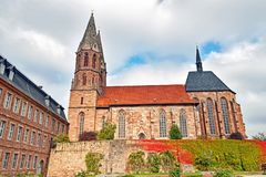 Церковь ` s St Mary в тюрингии/Германии Heilbad Heiligenstadt стоковые изображения