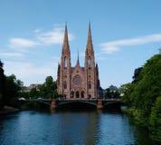 Церковь ` s St Paul в страсбурге, Франции стоковые изображения rf