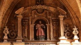 Церковь Sain Винсента на San Sebastian Испании Стоковые Изображения
