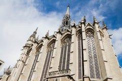 Церковь Sainte Chapelle, Париж, Франция Стоковые Фотографии RF